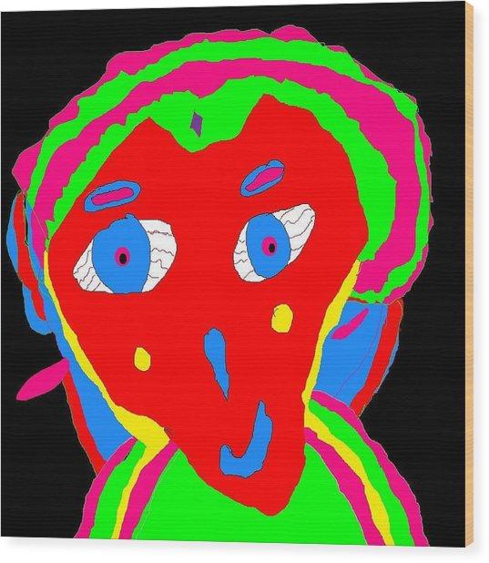 Alien Lady # Wood Print