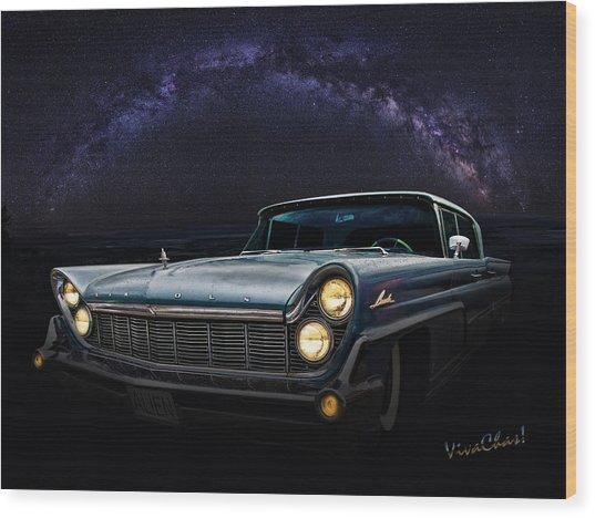 Alien Lincoln Roswell Saturday Night Wood Print