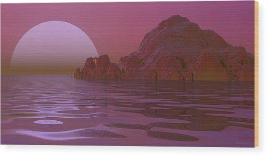 Alien Moonglow Wood Print