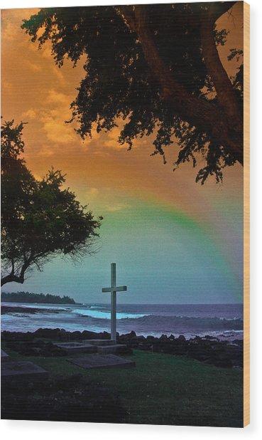 Alii Cross Wood Print