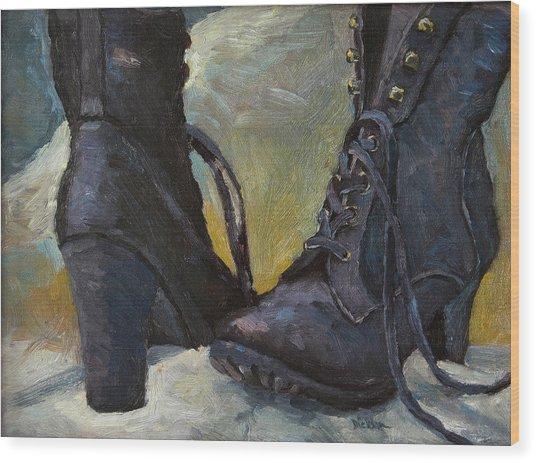 Ali's Boots Wood Print