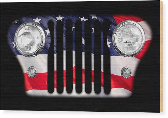 All-american Wood Print