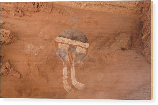 All American Man Pictograph Wood Print