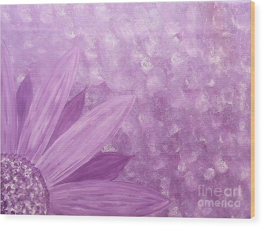 All Purple Flower Wood Print