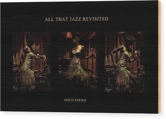 All That Jazz Revisited Wood Print by Jerome Holmes