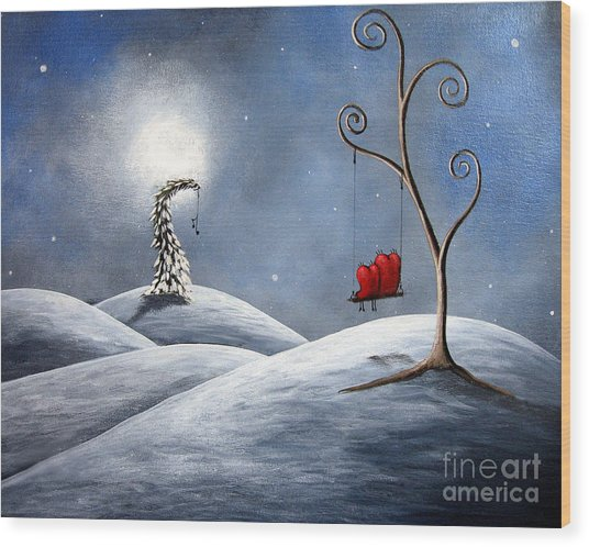 All We Need For Christmas By Shawna Erback Wood Print by Erback Art