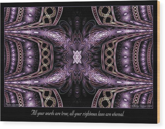 Wood Print featuring the digital art All Your Words by Missy Gainer