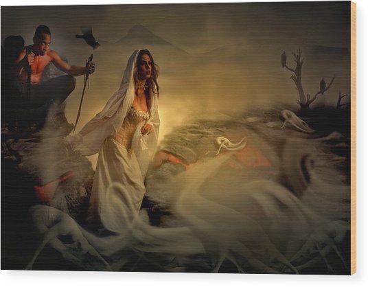 Allegory Fantasy Art Wood Print