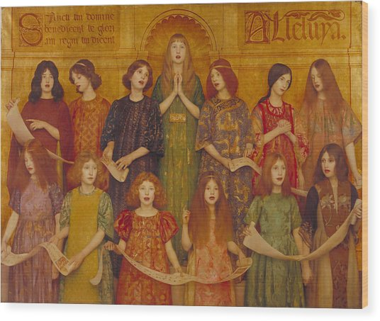 Wood Print featuring the painting Alleluia by Thomas Cooper Gotch