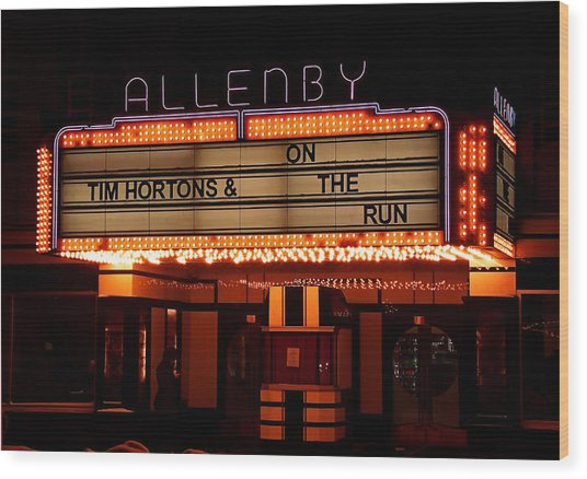 Allenby Theatre 1215 Danforth Wood Print