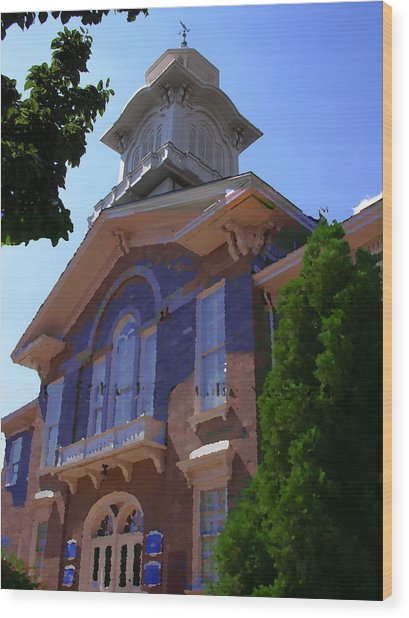 Allentown Pa Old Lehigh County Court House Wood Print