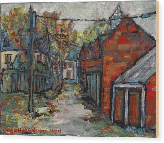 Alley Behind Sydenham Street Wood Print