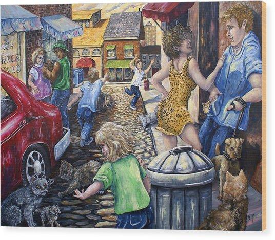 Alley Catz Wood Print