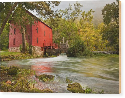 Alley Spring Mill - Eminence Missouri Wood Print