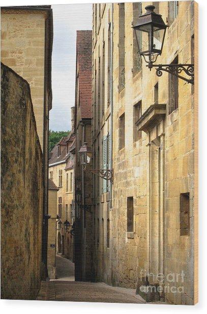 Alleys Of Sarlat Wood Print
