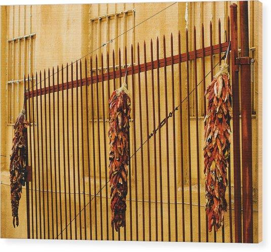 Alleys Of Taos Wood Print