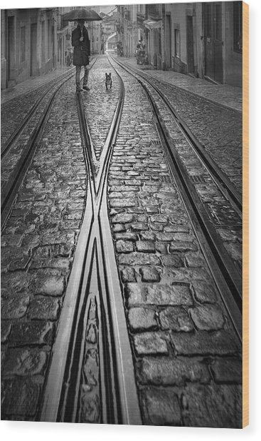Alleyways Of  Bica! Wood Print