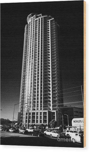 allure luxury condominium tower Las Vegas Nevada USA Wood Print