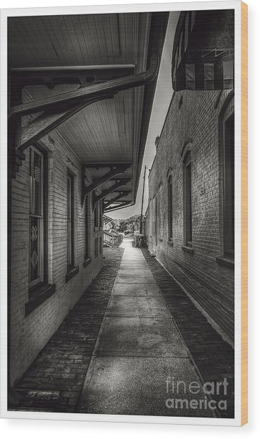 Alley To The Trains Wood Print