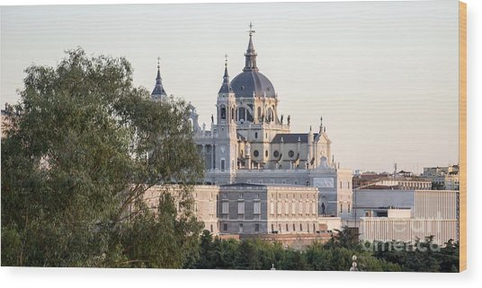 Almudena Church Madrid Wood Print