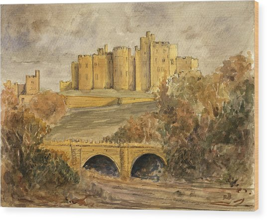 Alnwick Castle Wood Print