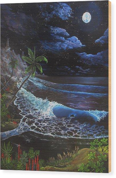 Aloha Luna Wood Print