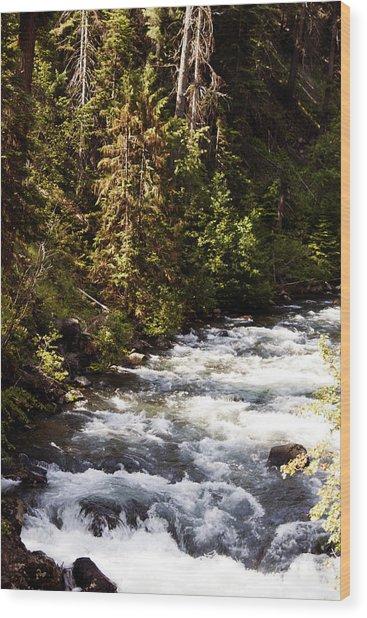 Along American River Wood Print