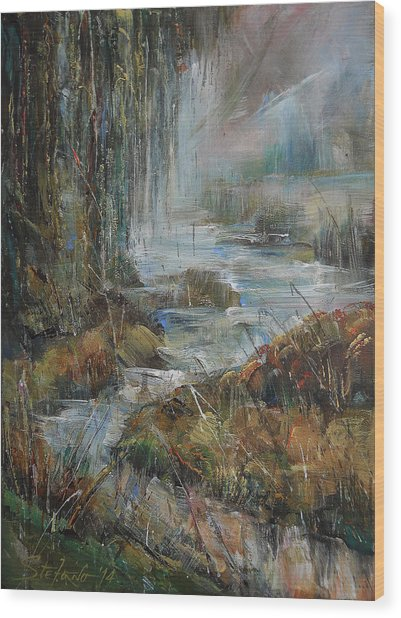 Along The River Wood Print