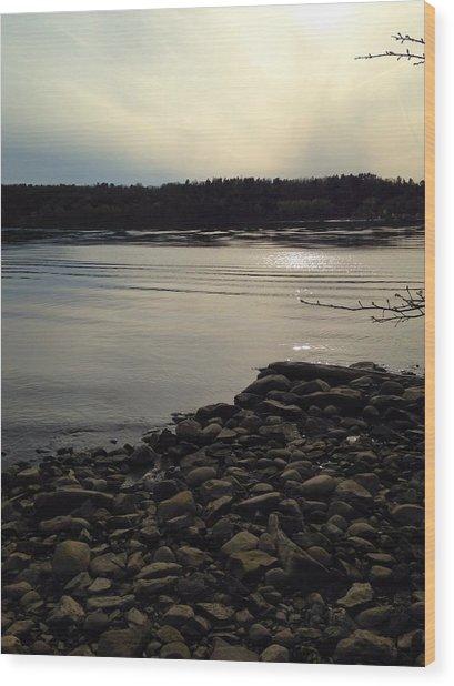Alongside The Hudson Wood Print