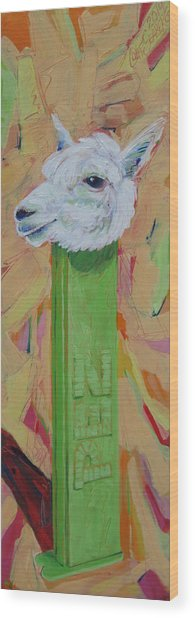 Alpaca Pez Wood Print