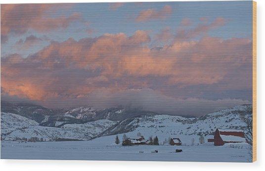 Alpine Glow Over Elk Mountain Meadows Wood Print