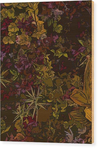 Alpine Groundcover Wood Print