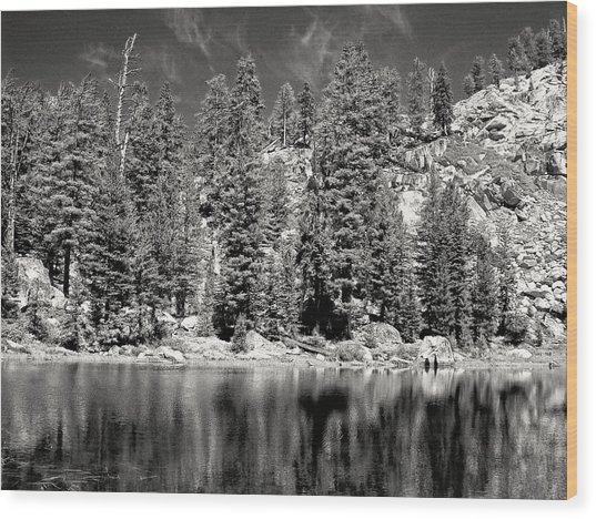 Alpine Lake Wood Print