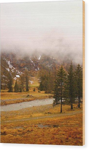 Alpine Mist Wood Print