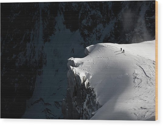 Alpinists Wood Print by Tristan Shu