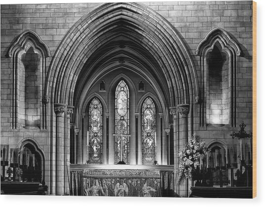 Altar At St Patricks Cathedral - Close Up Wood Print