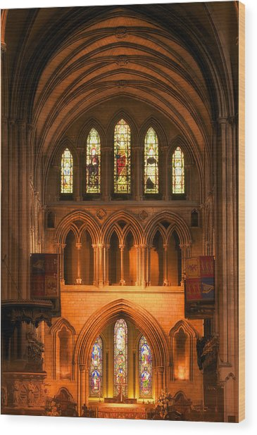 Altar Of St. Patrick's Cathedral Wood Print
