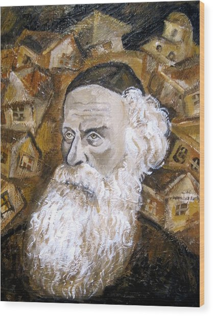 Alter Rebbe Wood Print