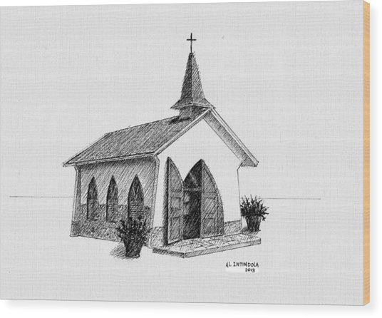 Alto Vista Chapel - Aruba Wood Print
