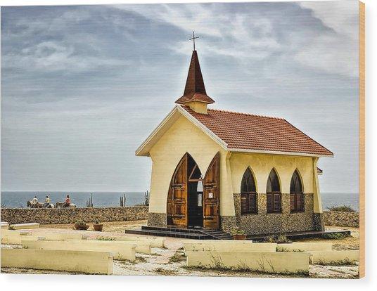 Alto Vista Chapel Aruba Wood Print