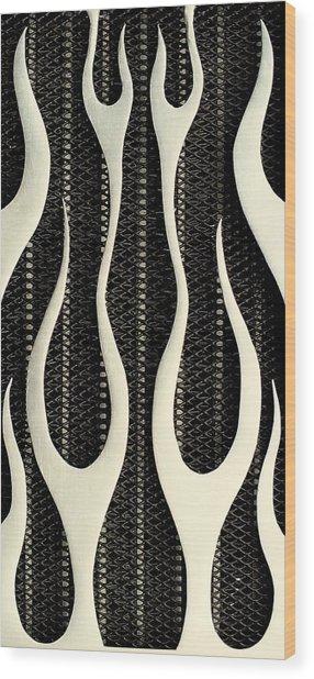 Aluminium Flames Wood Print