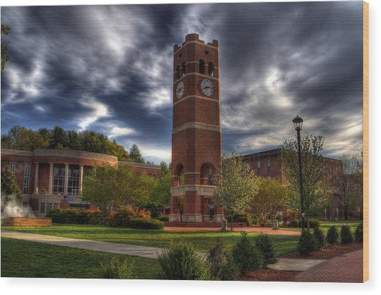 Alumni Tower-wcu Wood Print