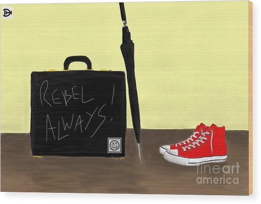 Always...rebel.... Wood Print