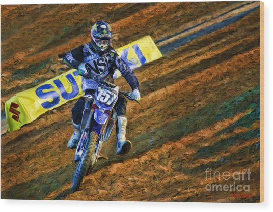 Ama 250sx Supercross Aaron Plessinger Wood Print