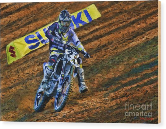 Ama 450sx Supercross Jason Anderson Wood Print