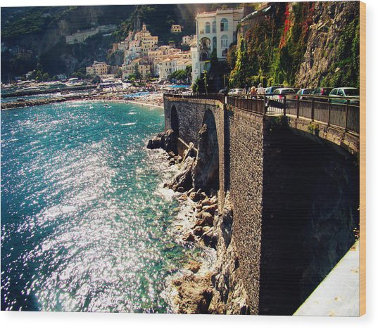 Amalfi Coast Wood Print