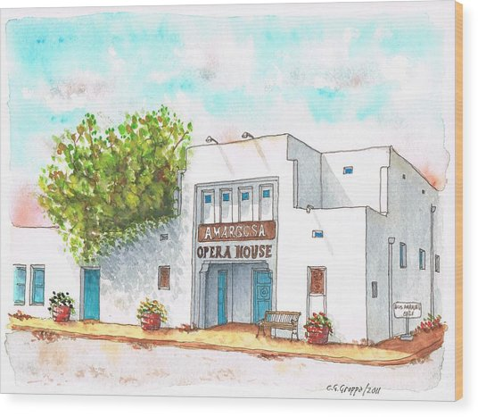 Amargosa Opera House - Nevada Wood Print