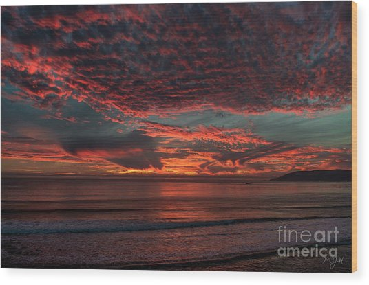 Amazing Blazing Sunset Wood Print