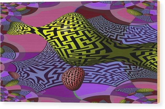 Mandelbrot Maze Wood Print
