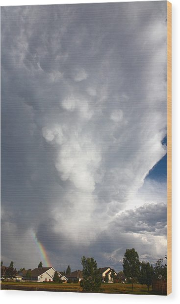 Amazing Storm Clouds Wood Print